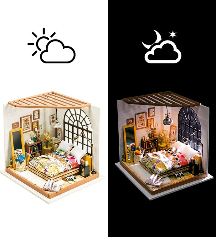 Alice's Dreamy Bedroom DIY Miniature Dollhouse